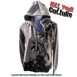 Weedo Jima Burnout Zipper Hoodie