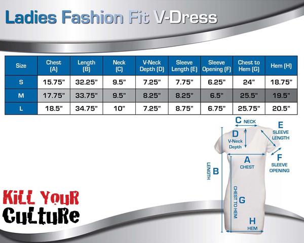 420 Dress Sizing Chart