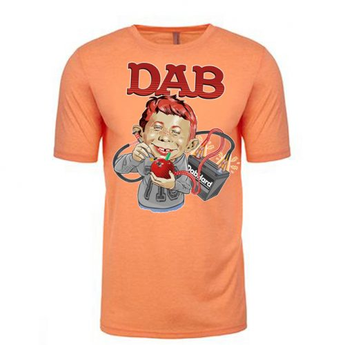 Dab Magazine Lt. Orange Vintage Tee