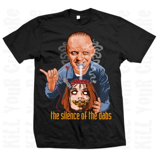 the silence of the dabs mens black tee